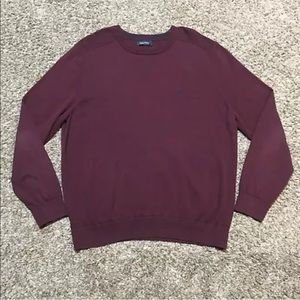 Nautica Pullover Crew Neck Men's Sweater Burgundy